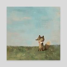 Field Fox - Canvas by Greg Abbott