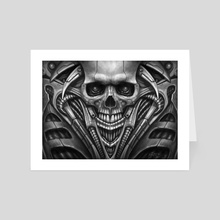 Bio Skull - Art Card by Rodger Pister