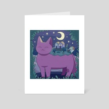 Nostalgia And Moving On - Art Card by Purrple Cat