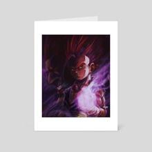Raging Saiyan - Art Card by MARK CLARK II