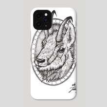 Little Goat  - Phone Case by Inked Brain