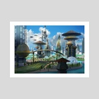 Mawanza City Grid for Android Netrunner - Art Print by Yog Joshi
