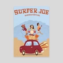Surfer Joe - Canvas by Katie Chapman