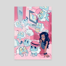 Froakie Room - Canvas by Nymria