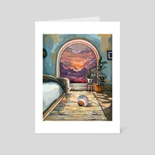 One sunset  - Art Card by Jane Koluga