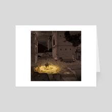Bonfire Lit - Art Card by Pierre Roset