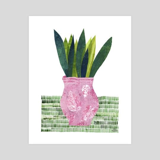 Pink Vase Still Life by Lesley Fitzpatrick