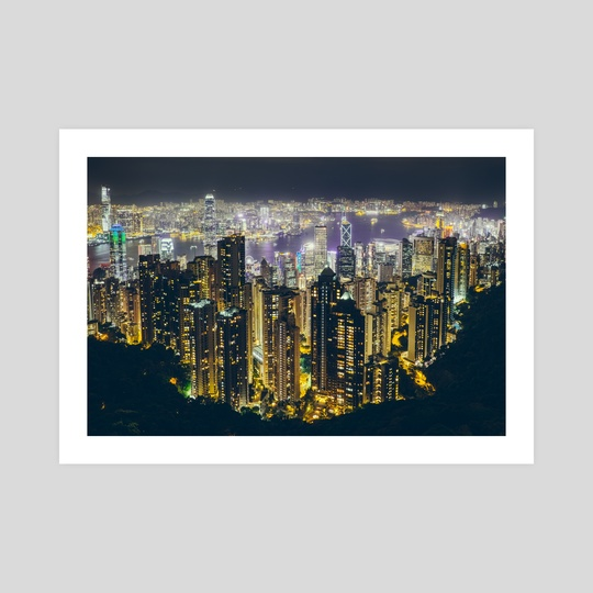 Hong Kong by night by Giel Sweertvaegher