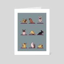 French Bulldog Yoga - Art Card by huebucket