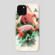 Flamingo - Phone Case by Hubert Pelerin