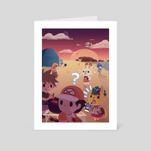 Pokecrossing - Art Card by Lucy Hunt