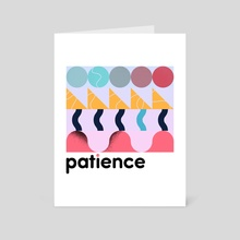 patience - Art Card by jamie bowker