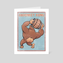 Badonkey Kong - Art Card by Greg Marathas