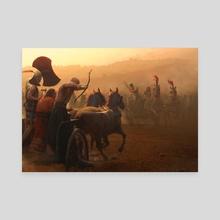 Kadesh Battle - Canvas by Jose Daniel Cabrera Peña
