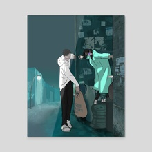 You're not trash. - Acrylic by Eerina Hart