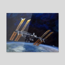 International Space Station - Acrylic by Jason Cheeseman-Meyer
