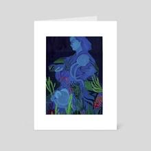 Herstory: Jeanne Villepreux-Power - Art Card by kristin divona