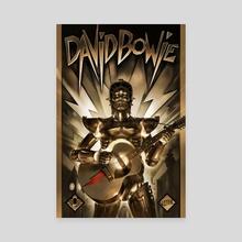 David Bowie vs Metropolis - Canvas by JESSE V1TAL