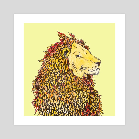 Lion by Abigail Latham