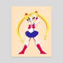 Sailor Moon - Canvas by Shariah Prejean