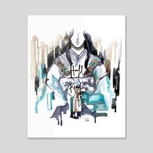 Hall of Beauty (Genjimonogatari) - Acrylic by Maiji/Mary Huang