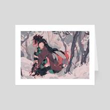 Tanjiro and Nezuko - Art Card by Hailey
