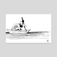 Boatman - Canvas by Shelby Ulibarri