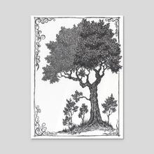The second tree - Acrylic by Боженов Юрий