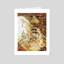 Magical Cat In Apothecary - Art Card by Sophy Mariam
