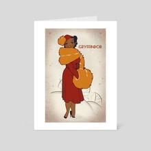 1930s gryph  - Art Card by Savannah Alexandra
