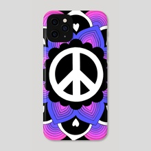 Peace and Love Mandala 14 - Phone Case by Emii Emilova