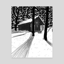 Cozy Cabin - Canvas by Diellza Gojani