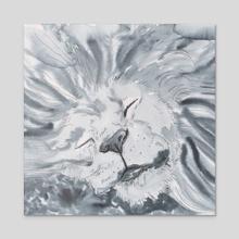 Sleeping lion - Acrylic by Anna T