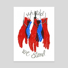 United We Stand - Canvas by Rachael Amber