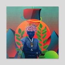 Kweku In Wonderland - Acrylic by Afroscope