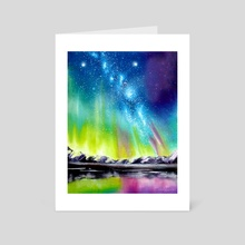 Northern Lights - Art Card by Addison Kanoelani