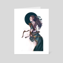 Wood Elf Archer - Art Card by Lucy Georgina