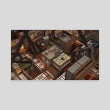 Infinity Castle - Canvas by Cem Ozan Cetintas