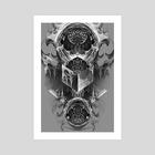 Hypercube - Art Print by Andrey Kiver