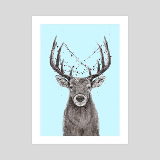 Xmas deer by Balazs Solti