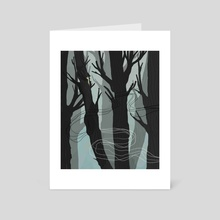 Whispering Forest - Art Card by Adrian James