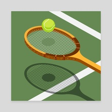 tennis - Canvas by Rich Stromwall