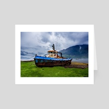Retired Scottish Ship - Art Card by Brian Fisher