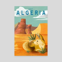 Algeria Travel Poster - Canvas by Tristan Chace