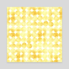 Imperfect Geometry Yellow Circles - Canvas by Nic Squirrell