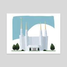 Washington DC LDS Temple - Canvas by Matthew Eng