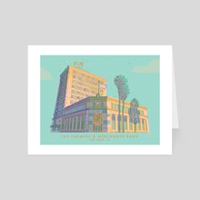 The Farmers & Merchants Bank, Long Beach, CA - Art Card by Jordan Lance