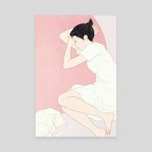 Sleeping girl - Canvas by Sai Tamiya