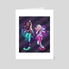Off The Hook - Art Card by Michelle Pao
