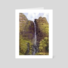 Cliffside waterfall - Art Card by Certon Kisters